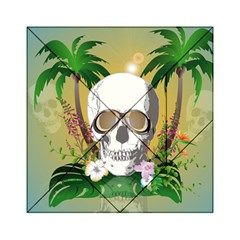 Funny Skull With Sunglasses And Palm Acrylic Tangram Puzzle (6  x 6 )