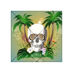 Funny Skull With Sunglasses And Palm Acrylic Tangram Puzzle (4  x 4 )