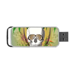 Funny Skull With Sunglasses And Palm Portable Usb Flash (one Side)