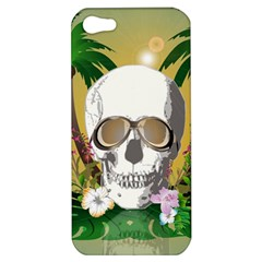 Funny Skull With Sunglasses And Palm Apple iPhone 5 Hardshell Case