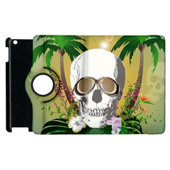 Funny Skull With Sunglasses And Palm Apple iPad 3/4 Flip 360 Case