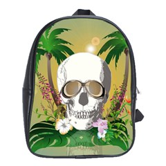 Funny Skull With Sunglasses And Palm School Bags (xl)
