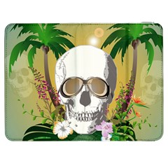 Funny Skull With Sunglasses And Palm Samsung Galaxy Tab 7  P1000 Flip Case
