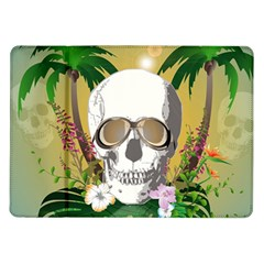 Funny Skull With Sunglasses And Palm Samsung Galaxy Tab 10.1  P7500 Flip Case