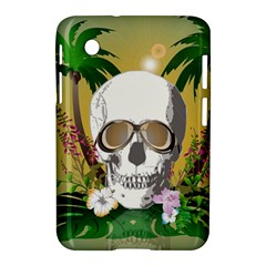 Funny Skull With Sunglasses And Palm Samsung Galaxy Tab 2 (7 ) P3100 Hardshell Case