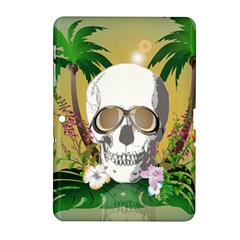 Funny Skull With Sunglasses And Palm Samsung Galaxy Tab 2 (10.1 ) P5100 Hardshell Case