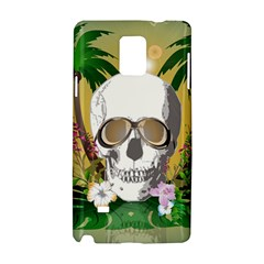 Funny Skull With Sunglasses And Palm Samsung Galaxy Note 4 Hardshell Case