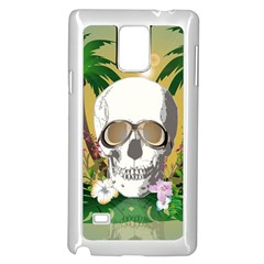 Funny Skull With Sunglasses And Palm Samsung Galaxy Note 4 Case (white)