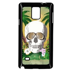 Funny Skull With Sunglasses And Palm Samsung Galaxy Note 4 Case (Black)