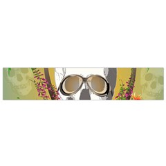 Funny Skull With Sunglasses And Palm Flano Scarf (Small)