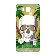 Funny Skull With Sunglasses And Palm Samsung Galaxy Alpha Hardshell Back Case