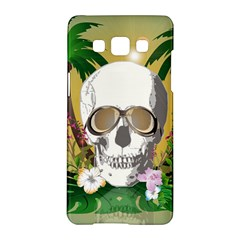 Funny Skull With Sunglasses And Palm Samsung Galaxy A5 Hardshell Case