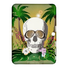 Funny Skull With Sunglasses And Palm Samsung Galaxy Tab 4 (10.1 ) Hardshell Case