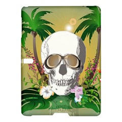 Funny Skull With Sunglasses And Palm Samsung Galaxy Tab S (10.5 ) Hardshell Case