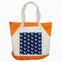Heart Pattern Blue Accent Tote Bag