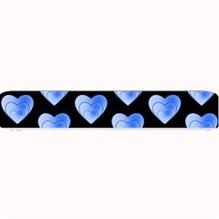 Heart Pattern Blue Small Bar Mats