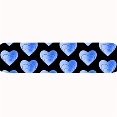 Heart Pattern Blue Large Bar Mats