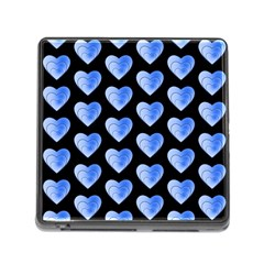 Heart Pattern Blue Memory Card Reader (Square)