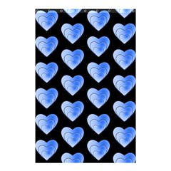Heart Pattern Blue Shower Curtain 48  X 72  (small)