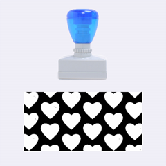 Heart Pattern Blue Rubber Stamps (Medium)
