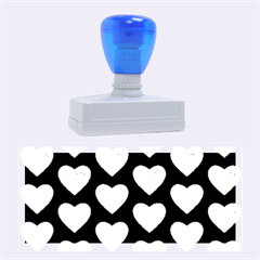 Heart Pattern Blue Rubber Stamps (large)
