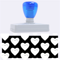 Heart Pattern Blue Rubber Address Stamps (XL)