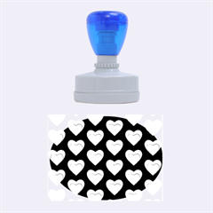 Heart Pattern Blue Rubber Oval Stamps