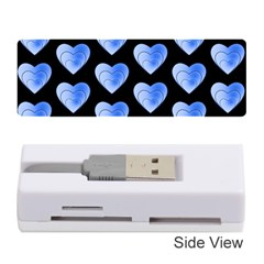Heart Pattern Blue Memory Card Reader (Stick)