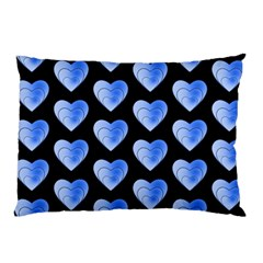 Heart Pattern Blue Pillow Cases (Two Sides)