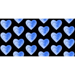 Heart Pattern Blue YOU ARE INVITED 3D Greeting Card (8x4)