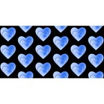 Heart Pattern Blue BEST BRO 3D Greeting Card (8x4)  Front