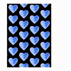 Heart Pattern Blue Small Garden Flag (two Sides)