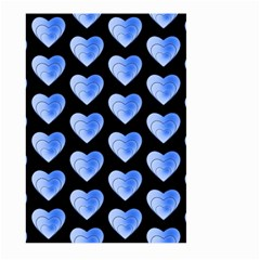Heart Pattern Blue Large Garden Flag (Two Sides)