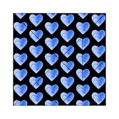 Heart Pattern Blue Acrylic Tangram Puzzle (6  x 6 )