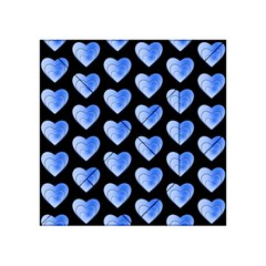 Heart Pattern Blue Acrylic Tangram Puzzle (4  x 4 )