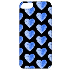 Heart Pattern Blue Apple iPhone 5 Classic Hardshell Case