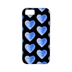 Heart Pattern Blue Apple iPhone 5 Classic Hardshell Case (PC+Silicone)