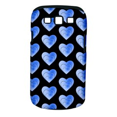 Heart Pattern Blue Samsung Galaxy S III Classic Hardshell Case (PC+Silicone)