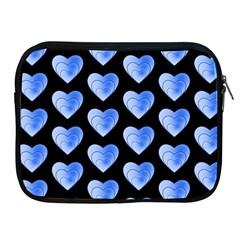 Heart Pattern Blue Apple iPad 2/3/4 Zipper Cases