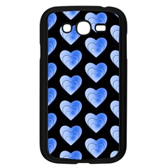Heart Pattern Blue Samsung Galaxy Grand DUOS I9082 Case (Black)