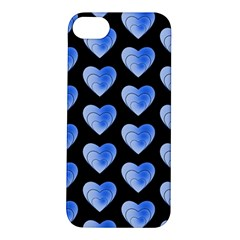 Heart Pattern Blue Apple iPhone 5S Hardshell Case