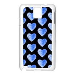 Heart Pattern Blue Samsung Galaxy Note 3 N9005 Case (White)