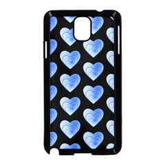 Heart Pattern Blue Samsung Galaxy Note 3 Neo Hardshell Case (Black)