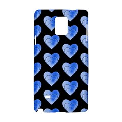Heart Pattern Blue Samsung Galaxy Note 4 Hardshell Case