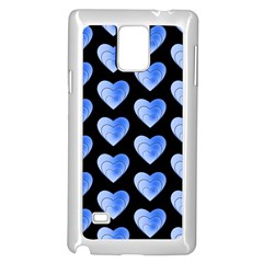 Heart Pattern Blue Samsung Galaxy Note 4 Case (white)