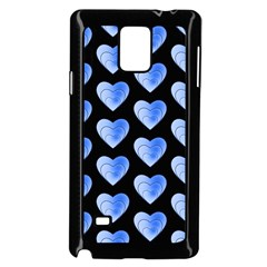 Heart Pattern Blue Samsung Galaxy Note 4 Case (black)
