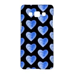 Heart Pattern Blue Samsung Galaxy A5 Hardshell Case