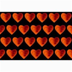 Heart Pattern Orange Collage 12  x 18