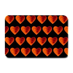 Heart Pattern Orange Plate Mats