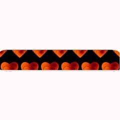 Heart Pattern Orange Small Bar Mats